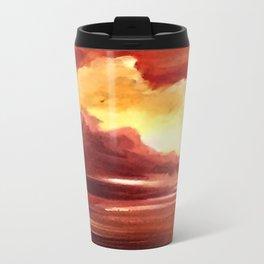 Red ocean Metal Travel Mug