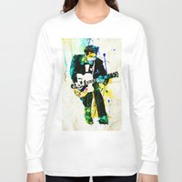 chuck Long Sleeve T-shirts featuring chuck berry by manish mansinh