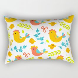 Easter Little Peeps Baby Chicks Pattern Rectangular Pillow