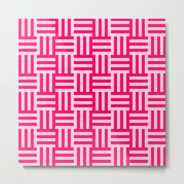 pink modern line pattern Metal Print