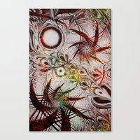 holiday Canvas Prints featuring Holiday by Klara Acel