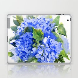 Hydrangea Flowers, floral sky blue soft green Sage colored art Laptop & iPad Skin
