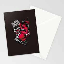 Devil Pin-Up Girl - Hell on Wheels Stationery Cards
