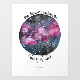 Written in the Galaxy Art Print
