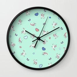 Sylveon Mint Print Wall Clock