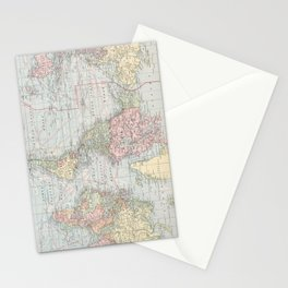 Vintage World Map (1901) Stationery Cards