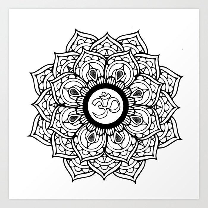 Om Hindu Sacred Sound Symbol Mandala Art Print By Artonwear Society6