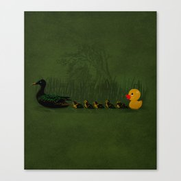 Rubber Duckling Canvas Print
