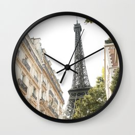 Eiffel tower architecture Wall Clock