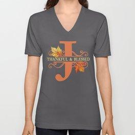 Thanksgiving J Monogram Unisex V-Neck