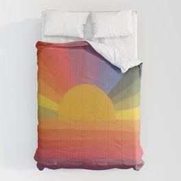 Rainbow Love 2 and sun Comforters