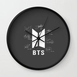 bangtan boys signature Wall Clock