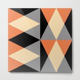Mid Century Modern Geometric Pattern 442 Metal Print