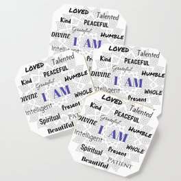 I AM... Positive Affirmation Coaster