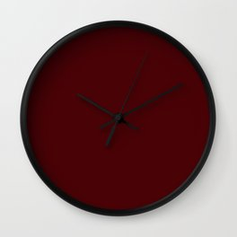 Dark Chocolate - solid color Wall Clock