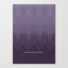 Purple Ombre Canvas Print
