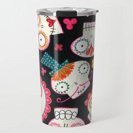 Sugar Skulls and Flowers Travel Mug