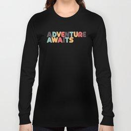Adventure Awaits - Retro Rainbow Long Sleeve T-shirt