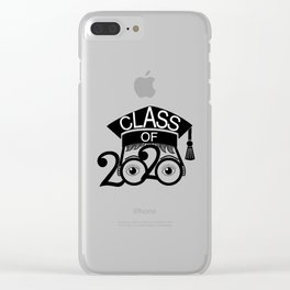 Class of 2020 Graduation Cap with Glasses Clear iPhone Case