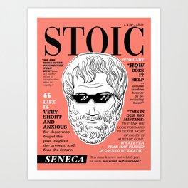 Stoic. Seneca Art Print