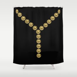 gold clips vintage fashion black edition Shower Curtain