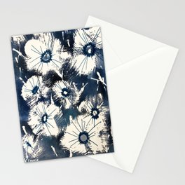 Indigo Floral Stationery Cards