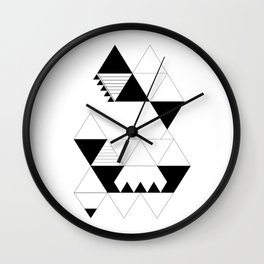 Moonokrom no 3 Wall Clock