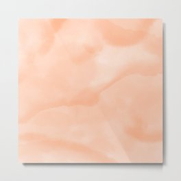 Modern abstract sand peach watercolor wash Metal Print