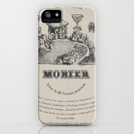 Trade card for Morier, landscape architect, Paris,19th century iPhone Case