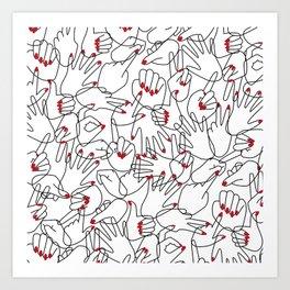 HANDS / pattern pattern Art Print