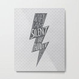 Thunder Hidden Inside Metal Print