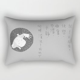 #63 Let go with peace Rectangular Pillow