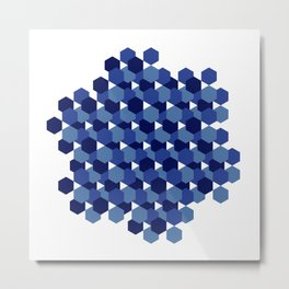 Hexagons Metal Print