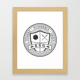 Random Number Gesus Framed Art Print