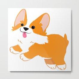 Funny Corgi Dog Metal Print