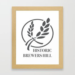 Brewers Hill Sign Black Framed Art Print