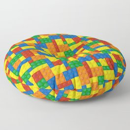 Colored Building Blocks Floor Pillow