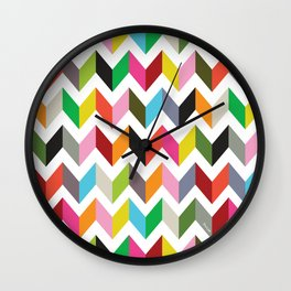 Ziggy chevron Wall Clock