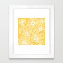 Sunshine Yellow Poppies Framed Art Print