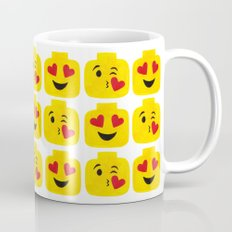 Hearts Minifigure Emoji Mug