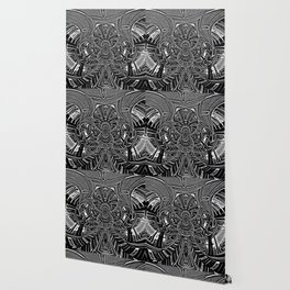 Subconscious Healing Frequency Black and White Edition Wallpaper