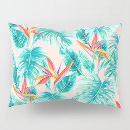 Tropical Paradise Pale Peach Pillow Sham