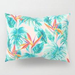 Tropical Paradise Pale Peach Pillow Sham