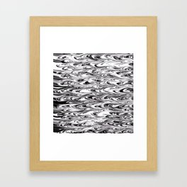 Wavy Wood Grain Texture Framed Art Print
