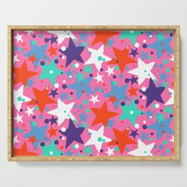 Fun ditsy print with constellations and twinkle lights Serving Tray
