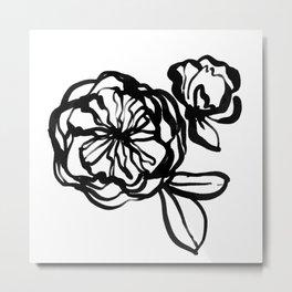 Garden Rose -  Ink illustration Metal Print