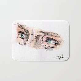 Benedict Cumberbatch Eyes Watercolour Bath Mat
