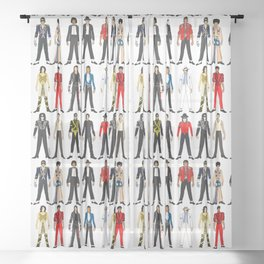 Outfits of King MJ Pop Music Sheer Curtain