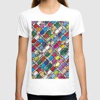 pills T-shirts featuring Colorful Pills by Sr Manhattan