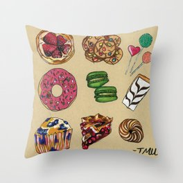 Pastries Throw Pillow